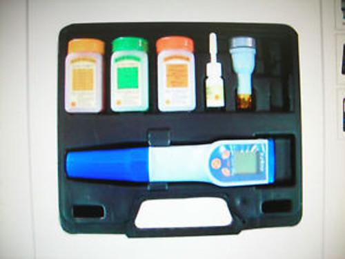 pH/mV/Cond/TDS/Salt/Temp Waterproof Tester+CarryingCaseWaterQCequipCE RoHs
