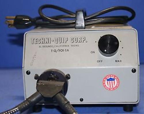 (1) Used Techni Quip Corp T-Q/FOI-1A Fiber Optic Light Illuminator Light Source