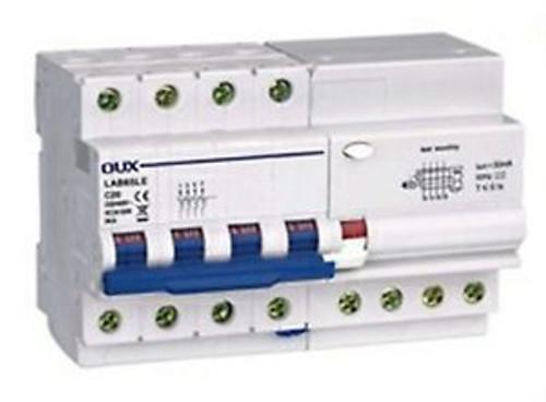 (1)C60 Type ELCB Earth LeakaGE Circuit Breaker 4P+N AC230/400V 50/60A 30mA 4KA