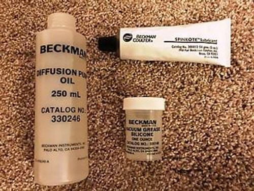 Beckman Coulter Diffusion Pump Oil, Silicone Vacuum Grease, And Spinkote All New
