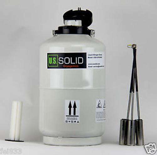 U.S.Solid® 10L Liquid Nitrogen Tank Cryogenic Container W/ Bag Dewar Tank /Semen