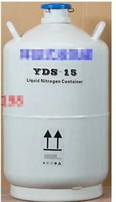 15 L Liquid Nitrogen LN2 Tank+ Straps Cryogenic Container S-5