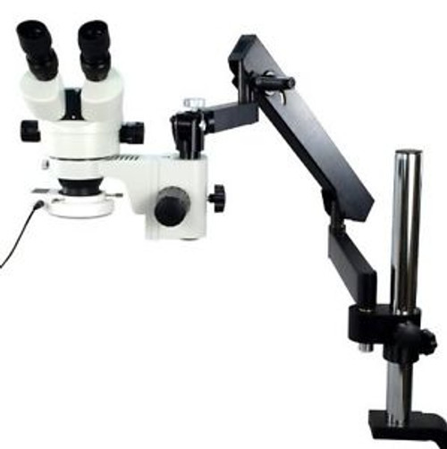 Stereo Zoom Microscope With Articulating Arm Post ClampW/ 54 Led Light