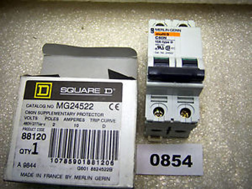 (0854) Square D MG24552 Supplementary Protector 480Y/277V 2P 10A