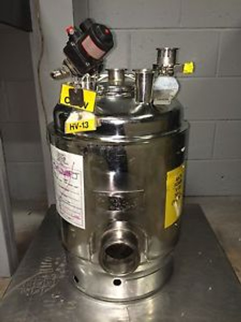 ALLOY PRODUCTS STAINLESS STEEL 30L JACKETED ANTI-FOAM PRESSURE VESSEL T-316 TANK