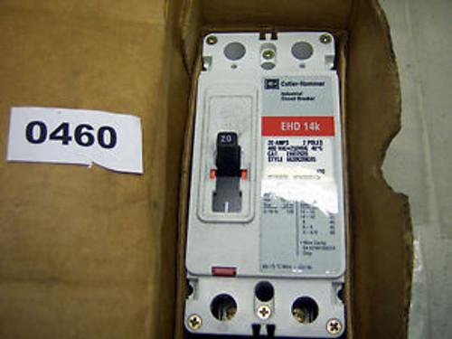 (0460) Cutler Hammer Circuit Breaker EHD2020 2P 20A 480VAC