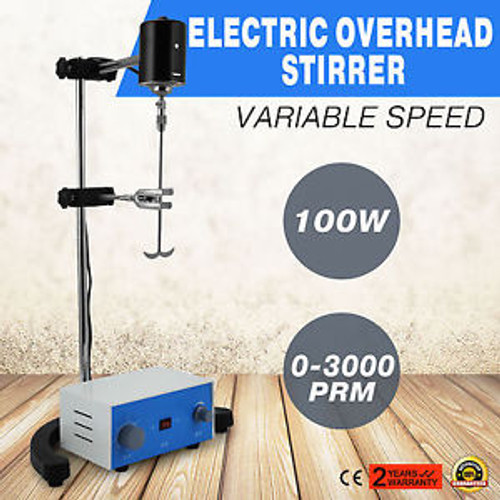 100w Electric overhead stirrer height adjustble stainless steel runs stable