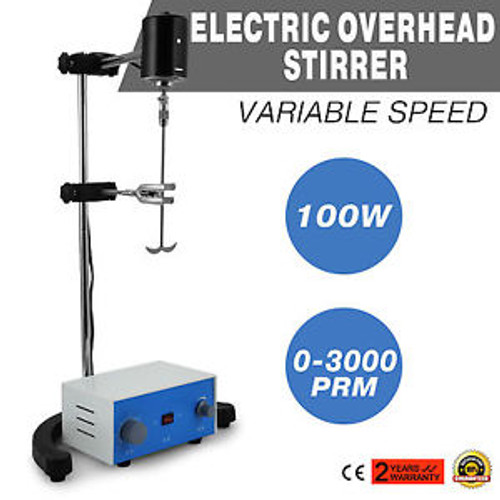 100w Electric overhead stirrer mixer height adjustble drum mix biochemical lab