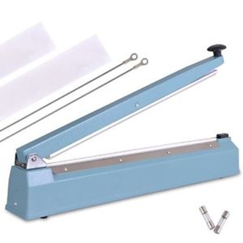 Wide 20 Plastic Poly Bag Tabletop Manual Hand Heat Impulse Sealer Press  Machine