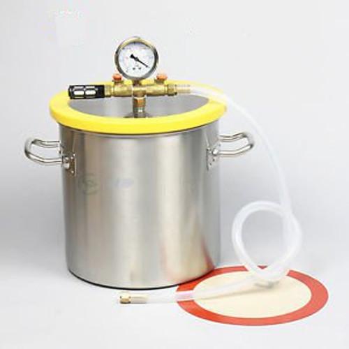 3 Gallon 250mm Stainless Steel  Vacuum & Degassing Chamber