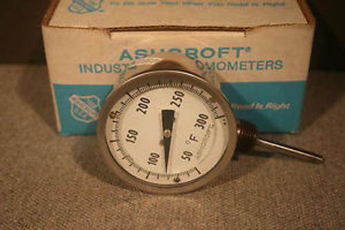 Ashcroft 7KA-29069-006 3ö Bimetal Thermometer 30EI60L  025  50/300F New in Box