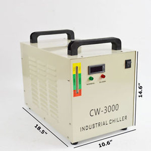 110/220V Cw-3000 Thermolysis Industrial Water Chiller For 60/80W Co2 Glass Tube