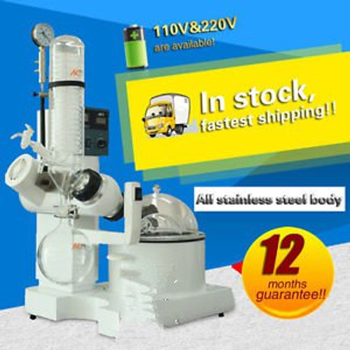 0.25-2L RE-2000A Rotary evaporator for lab with heating pot,automatic lifting