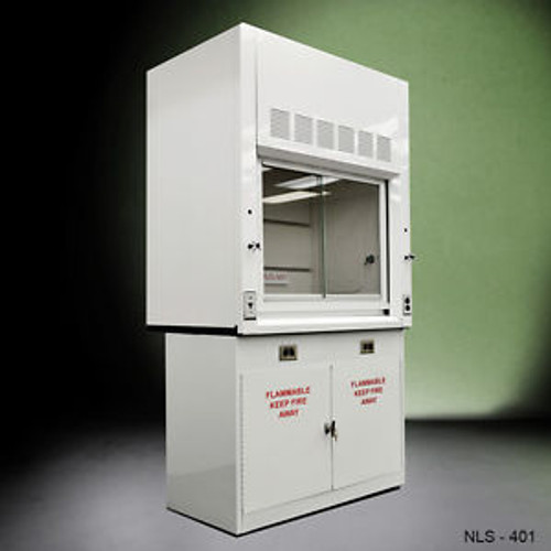 - 4 Chemical  Fume Hood W/ Flammable Base Cabinets -./-