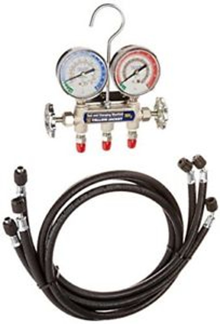 40193 manifold and gauges with 3 nha 48 hoses