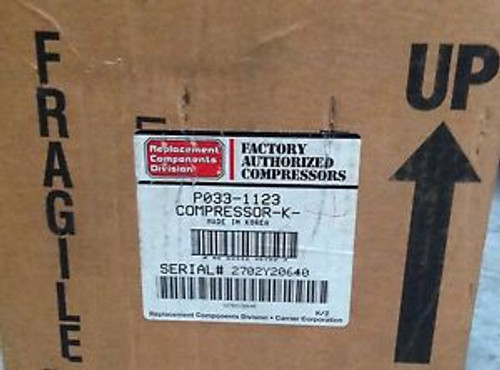 CP-P0331123-Carrier Compressor 208/230V 1PH R22 AC/HP