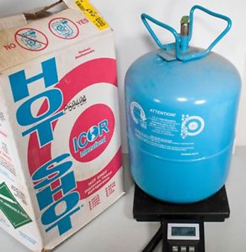 New Icor-Hot-Shot-Refrigerant-R414B-Partial-25-Lb-Tank-Gross-22-lbs-container