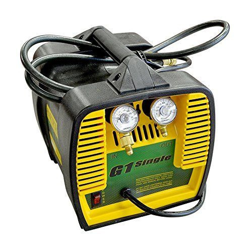 "Appion G1SINGLE Refrigerant Recovery Machine, 115 Vac, 60 Hz, 10 Amp, 10.3"" 9.4"""
