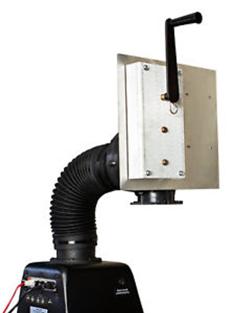 Emergency backup HAND CRANK for the Safe Cell NBC air filtration filter system
