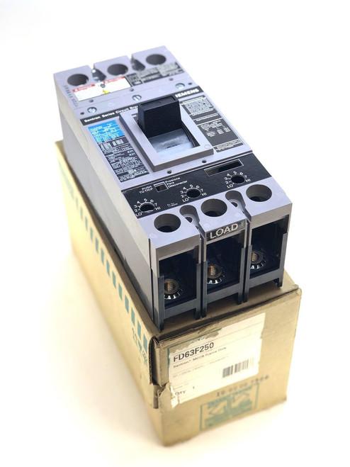 ITE Siemens FD63F250 3 Pole 250 Amp 600 VAC Circuit Breaker (W5)