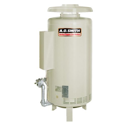 HW-120M Commercial Hot Water Supply Boiler Nat Gas Burkay 120,000 BTU Input