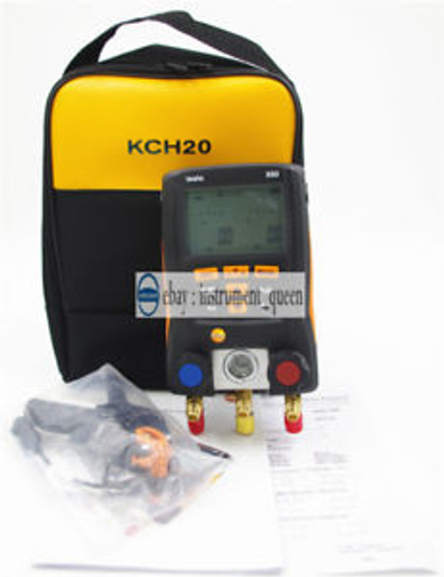 1 pc clamp probe+Refrigeration Digital manifold Testo 550  0563 1550+KCH20 CASE