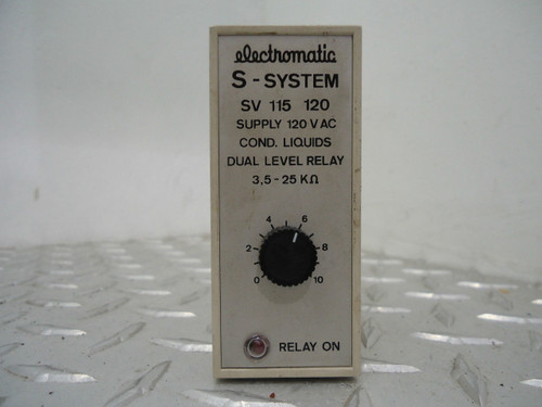 ELECTROMATIC S SYSTEM SV 115 COND. LIQUIDS DUAL LEVEL RELAY