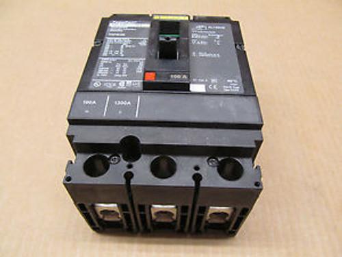 1 Square D Hgp Hgp36100 100 Amp 3 Pole 600 Volts Circuit Breaker