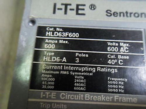 1 Siemens Hld63F600 500Amp Circuit Breaker