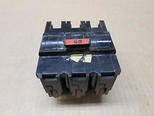 1 FPE NA NA360 60 AMP 3 POLE 240 VAC STAB-LOK CIRCUIT BREAKER RED