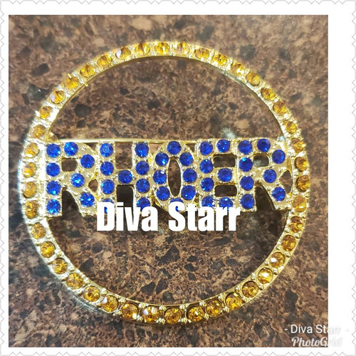 Rhoer Circle Bling Pin