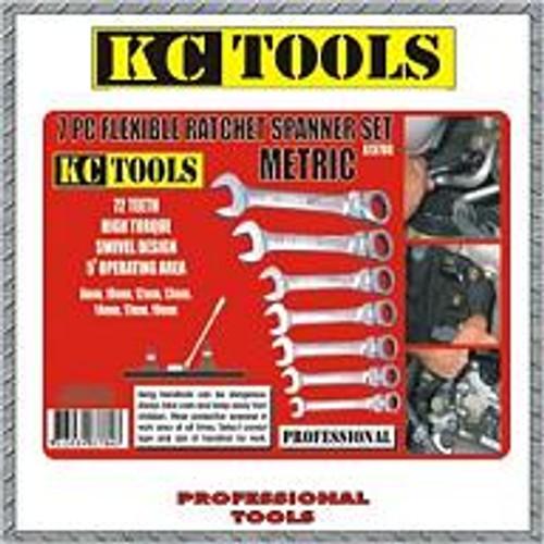 A13780 KC Tools Flex Head Gear Spanner Set Metric.