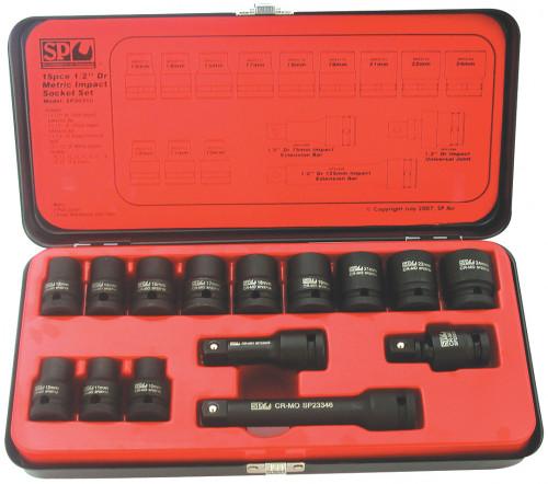 SP TOOLS SP20310 1/2 DRIVE 6 POINT IMPACT SOCKET SET MM.
