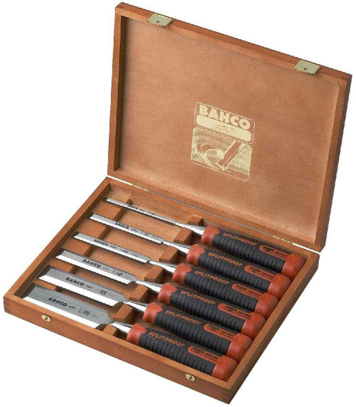 Bahco 6pce Pro Chisel Set in Wooden Box 434S6EUR