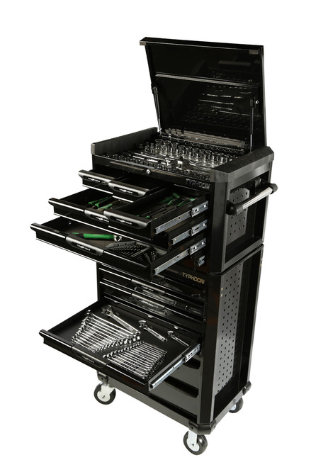 13 Drawer Mega 398pce AF & Metric Toolkit Black