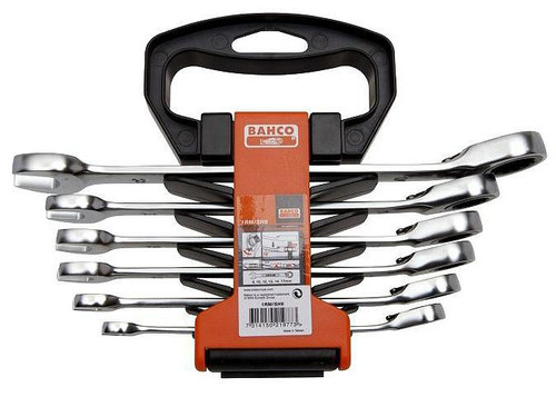 Bahco 6 piece Metric Ratcheting Combination Spanner Set BA1RM/SH6