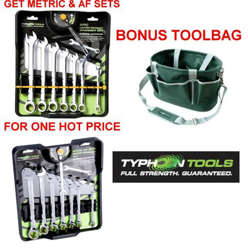 Typhoon 72 Tooth Fine Gear Spanner Duo Pack + Bonus Toolbag.