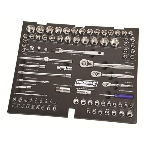 Kincrome EVA70T Sockets & Accessories 89 Piece Contour