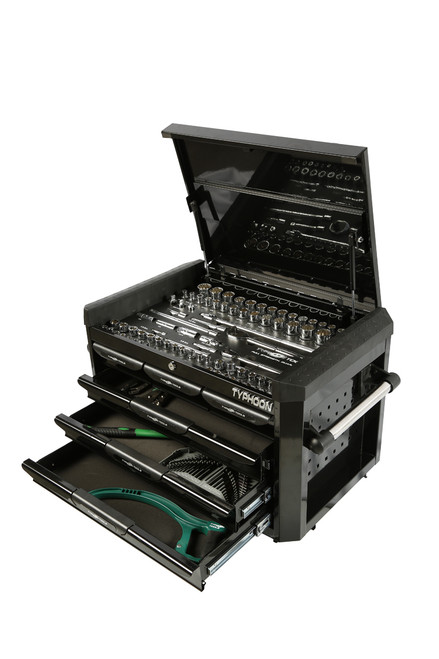 Typhoon 6 Drawer, 188pce AF & Metric Toolkit Black