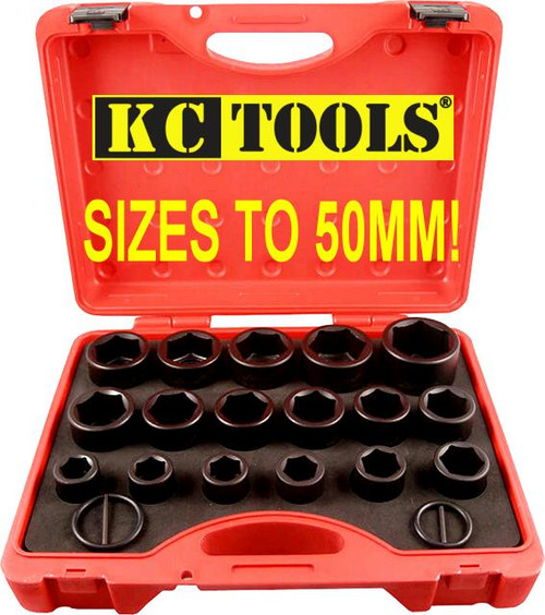 "11709 KC Impacta Mega Metric 3/4"" Drive Impact Socket Set to 50mm"