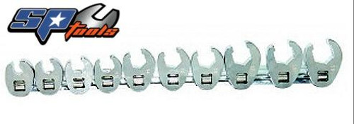 SP Tools 3/8 Drive Flare Crowfoot Spanner Set On Rail SP20574