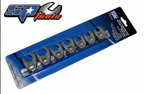 SP Tools 3/8 Drive Flare Crowfoot Spanner Set On Rail SP20594