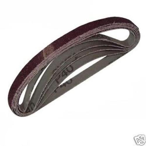 10 Pack of 60 Grit Belts To Suit SI2700 Shinano 10mm Belt Sander