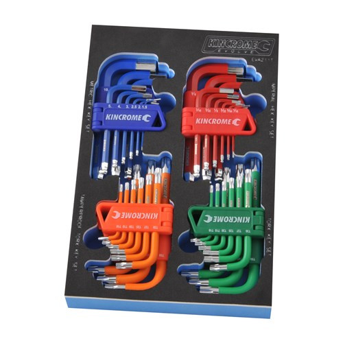Kincrome  EVA211T EVA Tray Hex & TORX® Keys 36 Piece