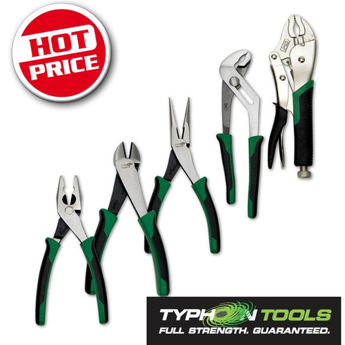 70750 Typhoon 5pce Plier Set. Great value