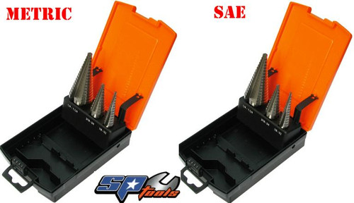 SP313989 SP Tools Inustrial Step Drill Sets SAE & MM Pack