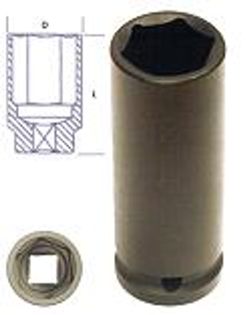 "KC Impacta 3/8"" Deep Drive Impact Socket 10mm."