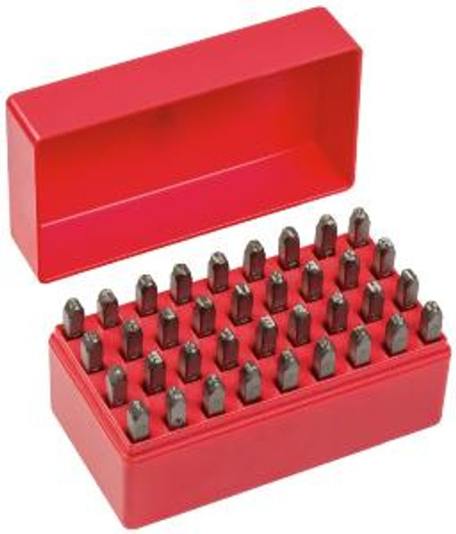 GEIGER 36 PIECE LETTER & NUMBER PUNCH SET 4mm.