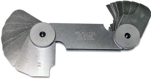 Fuji Tool Radius Gauge 0.75 to 5mm, 0.25mm increments FT272MA