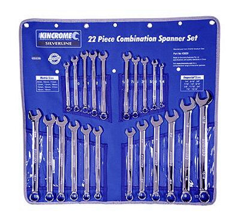 Kincrome K3029 Combination Silverline Spanner Set 22 Pce.